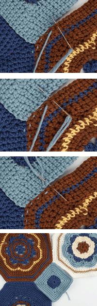 Seaming a crochet afghan 1