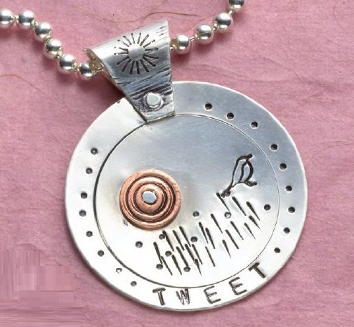 Snazz-It-Up metal stamped pendant by Kate Richbourg