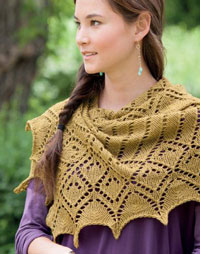 Framework Shawl worked with a lace bind off method.