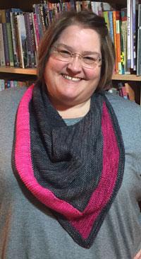 Finished Beacon shawl knitting pattern