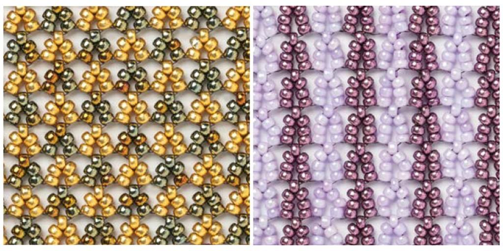 (l to r) 2-drop Hubble Stitch, 3-drop Hubble Stitch