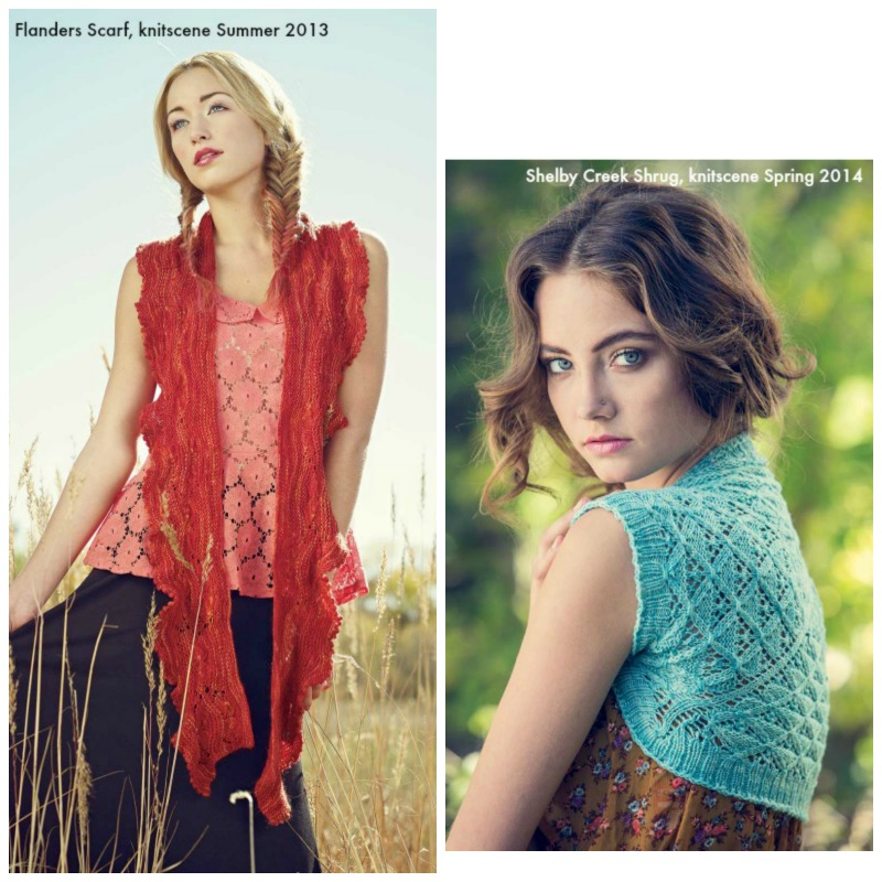 Warm Weather Knits: From left to right: Flanders Scarf, knitscene <a href=