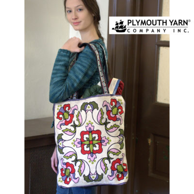 Plymouth Yarn's Large Tapestry Tote in Iris Multi