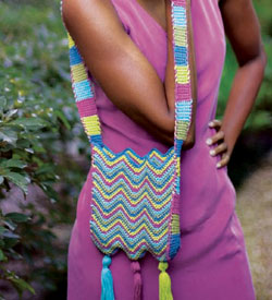 The Chevron Shoulder Bag is a great beginner crochet bag pattern to complete.