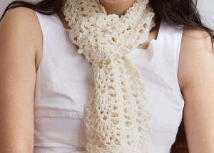 The Sweet Lorraine Lace Scarf is a  a beautiful stitch pattern scarf that can be found in the free 10 Free Crochet Scarf Patterns eBook.