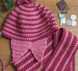 Free crochet gift ideas for beautiful handmade gifts, such as this crochet scarf and hat pattern!