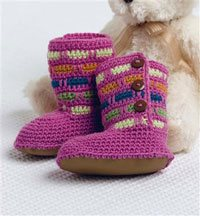 Crochet Baby Booties - Popsicle Boots