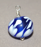 lampwork glass bead on a head pin