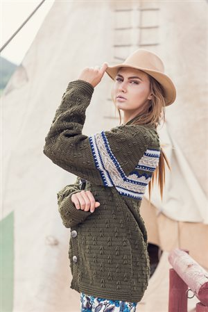 Mountain Forest Cardigan side