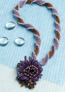 herringbone stitch beaded necklace tutorial