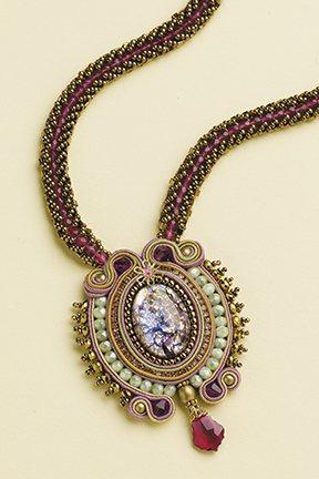 Aurora Pendant Necklace, Beadwork AprMay 2013