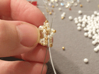 Making Beaded Necklace Step 6