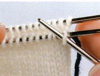 Kitchener stitch step 1