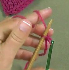 How to do the crochet cast-on in knitting step 4.