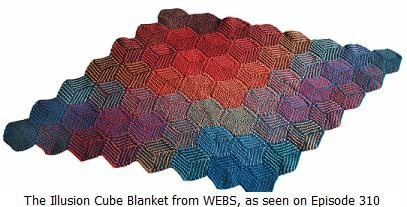 The Illusion Cube Blanket and Six Other Free Patterns from WEBS! - Interweave