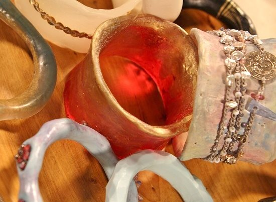 Resin bangles by Cynthia Thornton