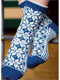 Snowflake Fair Isle socks