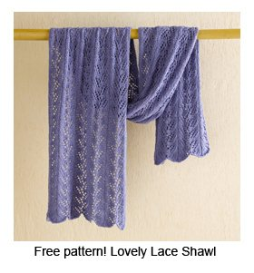 Knitting Lace Patterns Tips : Free Pattern: Lovely Lace Shawl (Plus More Lace Tips ...