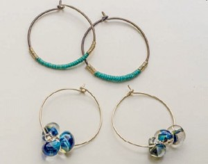 Learn how to make earrings with these easy hoop earrings found in our FREE eBook on jewelry making for beginners.