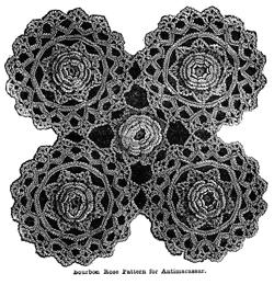 Bourbon Rose Vintage Crochet Pattern from Weldon's Practical Crochet