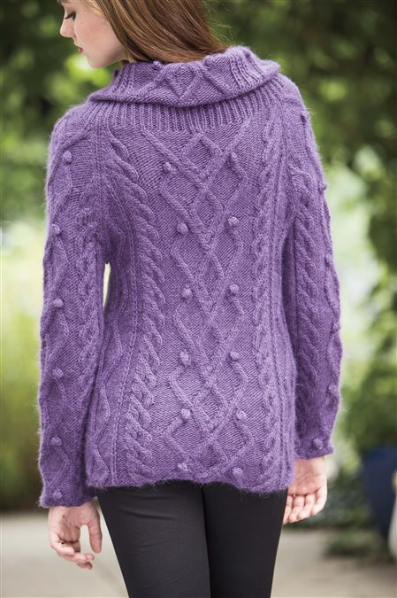 ice rink pullover knitted sweater pattern