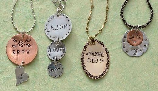 Metal Stamped Pendants By Lisa Niven Kelly