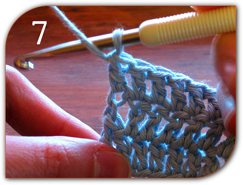 Double Crochet: Here's the final completed stitch of this row.