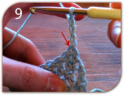 Double Crochet: Make the turning chain, which counts as the first stitch of the row.