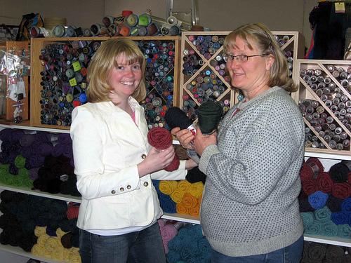 Mom and I and yarn