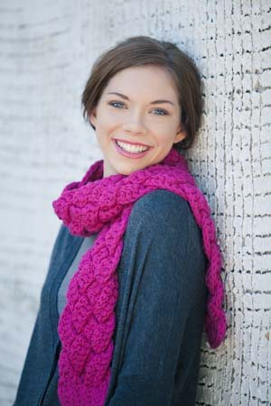 Rapunzel Scarf crochet pattern is an example of using foundation single crochet stitches.