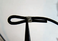 Making Leather and Wire Bracelet Step 3
