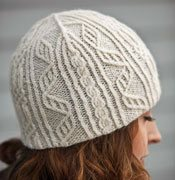 Hat knitting pattern that uses the twisted stitch method