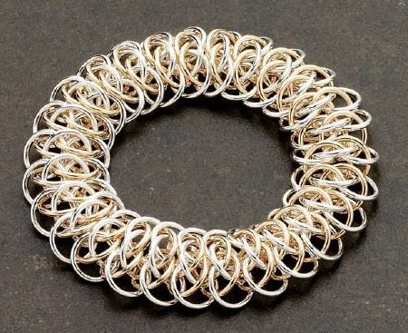 chain maille jewelry bracelet mixed metal