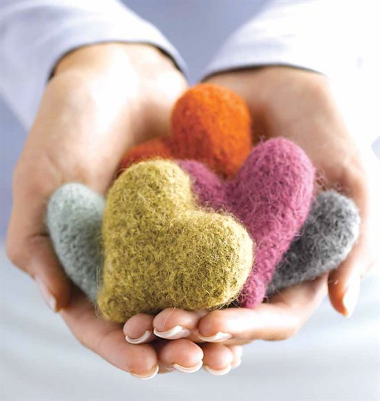 Knitting For Charity Have A Heart Free Pattern Knitting Daily
