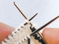 Kitchener stitch step 5 and 6
