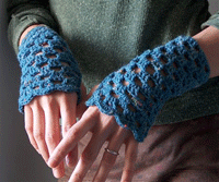 Crochet Lace Mitts