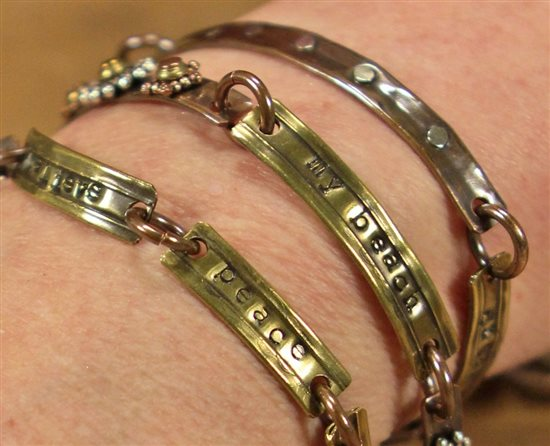 stamped bracelets from Making Metal Jewelry With Tubing