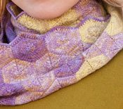 Free infinity scarf knitting patterns: Hexagon Infinity.