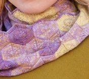 Free infinity scarf knitting patterns: Hexagon Infinity.