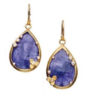 Tanzanite earrings by Barbara Heinrich. Photo by Tim Callahan.