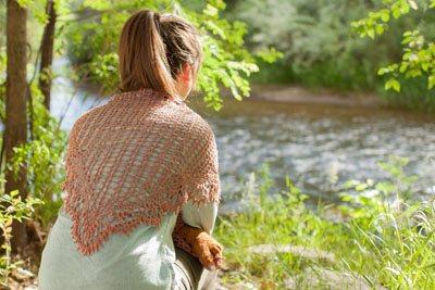 morning webs shawl back