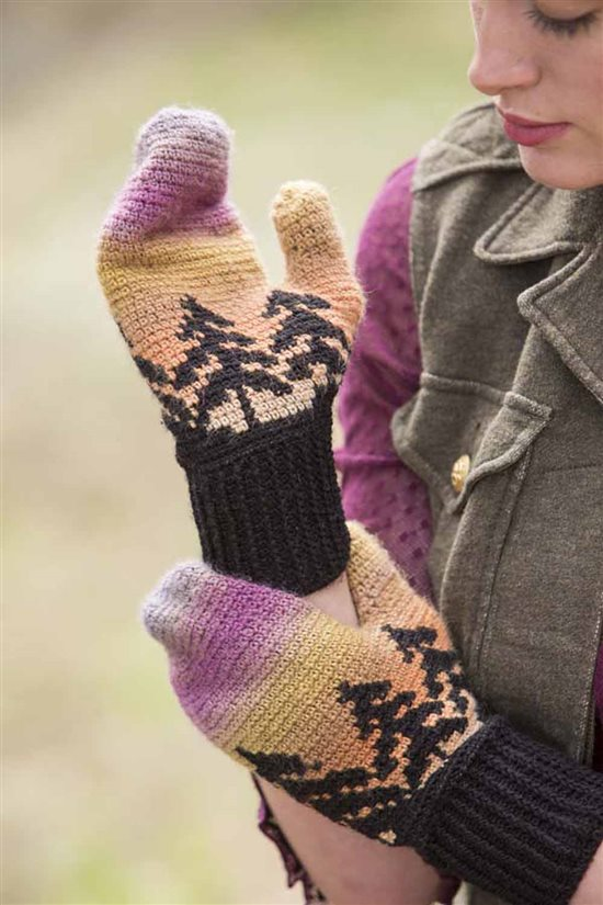 Crochet Ever After: Colorwork Crochet Mittens