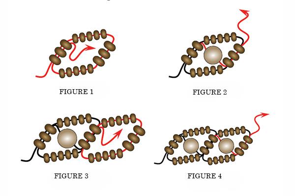 Russian snake bead weaving stitch illustration