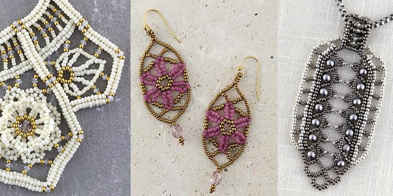 Studio Sunday: 3 Bead Weaving Stitches Enhance Your Beaded Lace