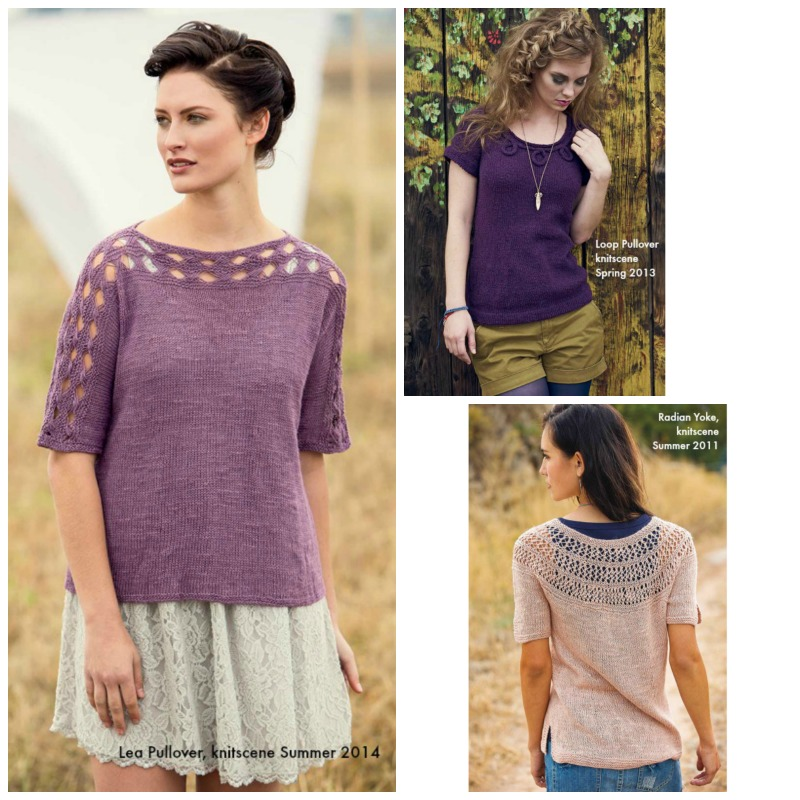 Warm Weather Knits: Clockwise from left: Lea Pullover, <a href=