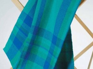 This handwoven towel project is woven on a four-shaft loom.