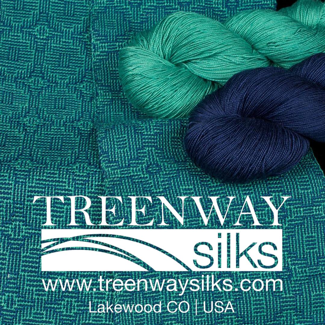 Tidal Pool 100% Silk Scarves Kit from Treenway