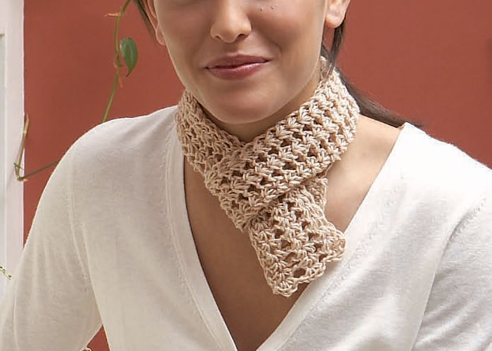 how to crochet a lace scarf