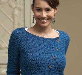 Learn how to crochet this lace top pattern found in our FREE eBook.