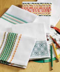 You'll love weaving these free towel weaving patterns in this eBook.